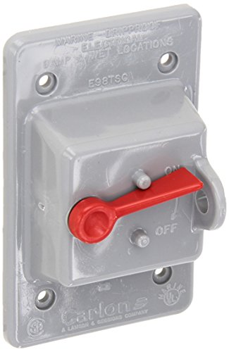 Thomas-Betts-E98TSCN-Carlon-Vertical-Mount-Toggle-Switch-Box-Cover-Weatherproof-1-Gang-Gray-Pack-of-10-0