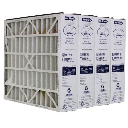 Trion-Air-Bear-255649-103-4-Pack-Pleated-Furnace-Air-Filter-20x20X5-MERV-8-0
