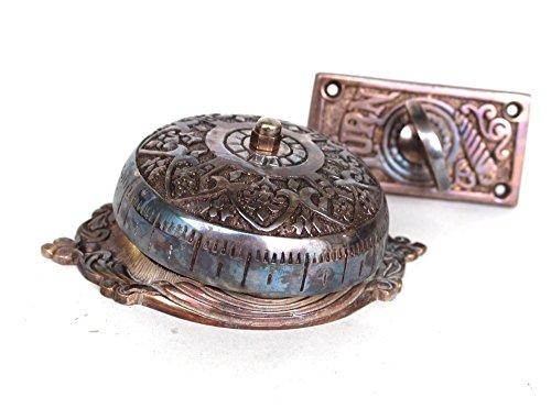Twist-Door-Bell-antique-Darkened-REPLICA-solid-brass-door-hardware-old-house-restoration-0-0