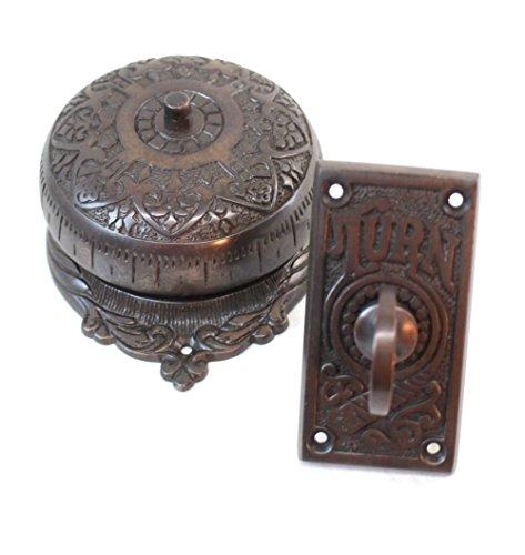 Twist-Door-Bell-antique-Darkened-REPLICA-solid-brass-door-hardware-old-house-restoration-0