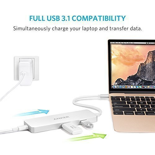 UpgradedAnker-Premium-USB-C-Hub-with-HDMI-and-Power-Delivery-2-SuperSpeed-USB-30-Ports-1-HDMI-Port-and-1-USB-C-Input-Charging-Port-with-PD-Specification-for-the-new-MacBook-and-ChromeBook-Pixel-0-0