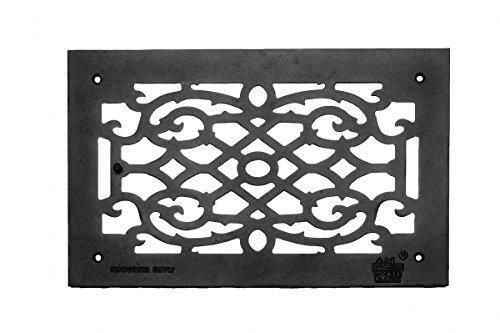 Vent-Cover-Grille-Victorian-Cast-Aluminum-No-Maintenance-Rustproof-Baked-Powder-Coat-Scroll-Design-Renovators-Supply-Logo-0-0