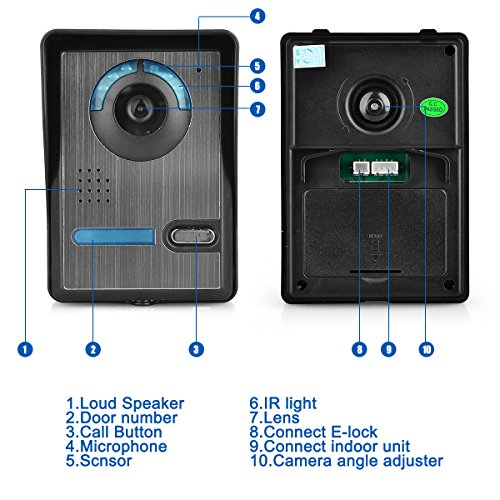 Video-Door-Phone-Gbargain-7-Color-TFT-LCD-Video-Door-Phone-Doorbell-Intercom-Night-Vision-Without-Radiation-Low-Power-Consumption-and-High-Definition-0-1