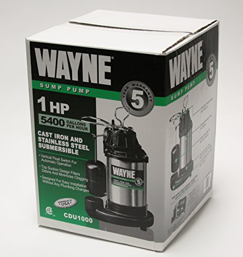 WAYNE-CDU1000-1-HP-Submersible-Cast-Iron-and-Stainless-Steel-Sump-Pump-with-Integrated-Vertical-Float-Switch-0