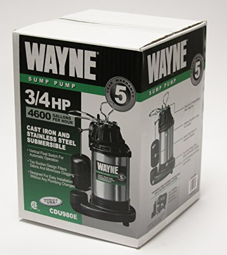 WAYNE-CDU980E-34-HP-Submersible-Cast-Iron-and-Stainless-Steel-Sump-Pump-With-Integrated-Vertical-Float-Switch-0-0