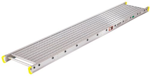 Werner-2416-500-Pound-Duty-Rating-Two-Person-Aluminum-Scaffold-Plank-14-Inch-Wide-by-16-Feet-Long-0