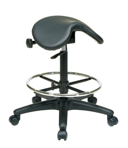 WorkSmart-Seating-Backless-Office-Stool-with-Saddle-Seat-Angle-Adjustment-25-to-35-Inch-Height-0
