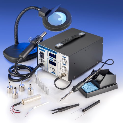 X-TRONIC-XTR-4040-XTS-Digital-Hot-Air-Rework-Soldering-Iron-Station-Bundle-5-Items-0