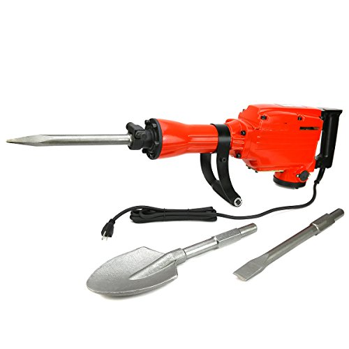 XtremepowerUS-2200Watt-Electric-Demolition-Jack-hammer-w-Chisels-and-Spade-Scoop-Shovel-0