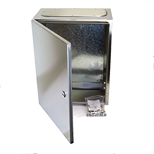 Yuco stainless steel 14 gauge single door hinge cover for 14 gauge steel door