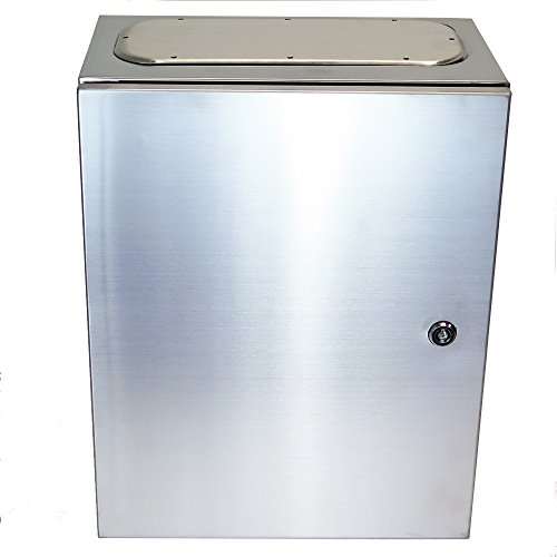 YUCO-STAINLESS-STEEL-14-GAUGE-SINGLE-DOOR-HINGE-COVER-WALLMOUNT-ENCLOSURE-YC-16x12x8SS-400H-X-300W-X-200D-0
