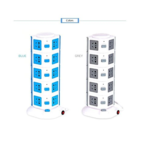 YUKASUMI-Vertical-5-Layers-2USB-Charge-20-Outlet-Creative-Power-Strip-For-Home-Office-Application-0-0