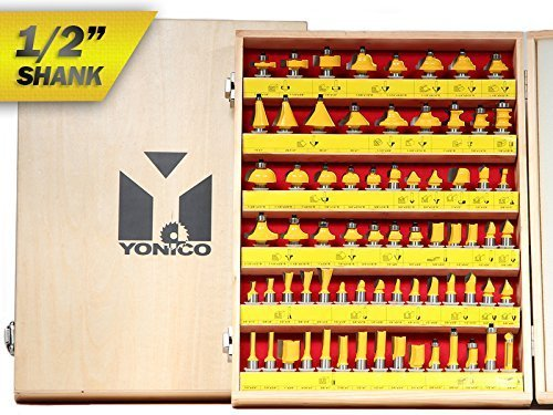 Yonico-17702-70-Bits-Professional-Quality-Router-Bit-Set-Carbide-12-Inch-Shank-0