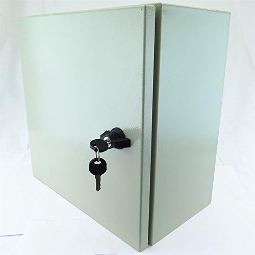 YuCo-Yc-20x16x10-EL-2-K-IP65-16-Gauge-Wall-Mount-Standard-IndoorOutdoor-Enclosure-20-H-x-16-W-x-10-D-With-Lock-2-Keys-0