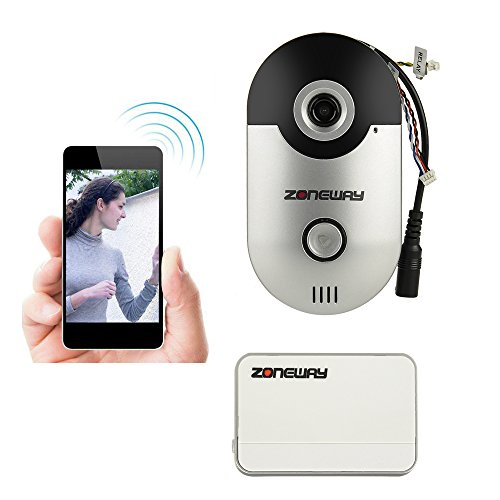 ZONEWAY-ZW-D1-Mini-Smart-Wireless-Wifi-Video-Intercom-Doorbell-System-15ft-Night-Vision-25mm-Lens-Up-to-135-Degrees-View-Angle-Free-iOS-and-Android-APP-to-See-Whos-at-the-Door-Say-Hello-From-Anywhere–0