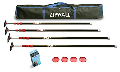ZipWall-ZP4-ZipPole-10-Foot-Spring-Loaded-Poles-for-Dust-Barriers-4-Pack-0